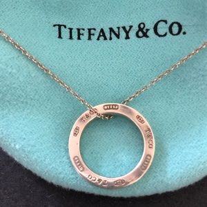 "Tiffany 1837 Circle necklace, 16"" sterling silver"